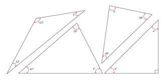 Dobra a soma de um triângulo Fotografia de Stock Royalty Free