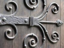 Dobradiça de porta antiga Imagens de Stock