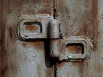 Dobradiça de porta do ferro Foto de Stock