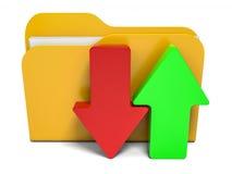 Dobrador abstrato Download e transferência de arquivo pela rede Imagens de Stock