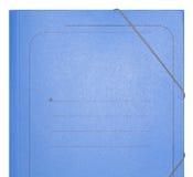 Dobrador azul do cartão Foto de Stock