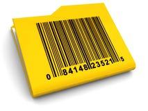 Dobrador com bar-code Foto de Stock