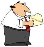 Dobrador confidencial Fotografia de Stock