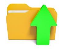Dobrador da transferência de arquivo pela rede Fotografia de Stock