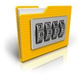 Dobrador de arquivo com fechamento de combinação ilustração royalty free