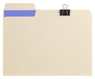 Dobrador de arquivo com trajeto fotografia de stock