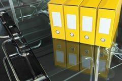 Dobradores amarelos Fotos de Stock