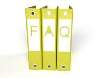 dobradores amarelos do FAQ 3d Foto de Stock Royalty Free