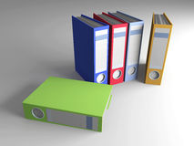 Dobradores coloridos ilustração stock