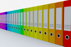Dobradores coloridos do arquivo. Imagem de Stock