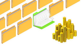 Dobradores com objetos Imagem de Stock Royalty Free