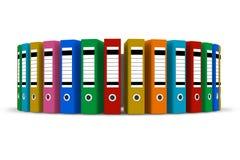 Dobradores da cor Foto de Stock Royalty Free