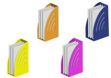 Dobradores da cor com papel Imagens de Stock
