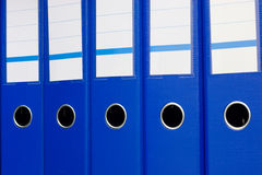 Dobradores de arquivo azuis Imagens de Stock Royalty Free