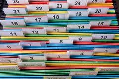 Dobradores de arquivo com etiqueta numérica Imagem de Stock Royalty Free