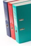 Dobradores de arquivo da cor Imagem de Stock Royalty Free