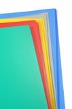 Dobradores de arquivo da cor isolados Foto de Stock Royalty Free