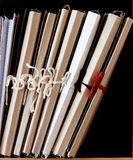 Dobradores do cartão com papéis Imagem de Stock Royalty Free