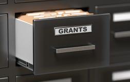 Dobradores e arquivos das concessões no armário no escritório 3D rendeu a ilustração Foto de Stock