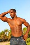 Dobramento muscular do homem Imagem de Stock Royalty Free