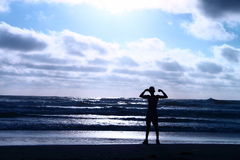 Dobramento na praia Foto de Stock Royalty Free