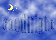 Dobranoc pojęcie Obrazy Royalty Free