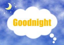 Dobranoc pojęcie Obrazy Stock