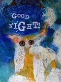 Dobranoc życzenia karciany projekt zdjęcie royalty free