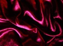 Dobras do cetim de Borgonha Imagem de Stock Royalty Free