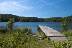 Dobre Lake (Kaszuby, Poland). Dobre Lake (Kaszuby, Poland, summer royalty free stock photo