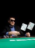 Dobre no póquer com dois ás Imagens de Stock Royalty Free