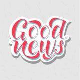 dobre wieści Zdjęcia Stock