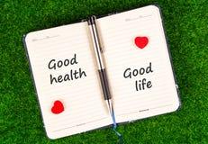 Dobrego zdrowia równy dobre życie obraz stock