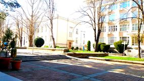 Dobrich, κέντρο της Βουλγαρίας, επεξεργασθε'ν στοκ φωτογραφία με δικαίωμα ελεύθερης χρήσης