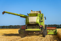Dobrich, Bulgaria - JULY 08, 2016: Claas Lexion 660 combine harv. Ester on display at the annual Nairn Farmers Show on July 08, 2016 in Dobrich, Bulagria Stock Photography