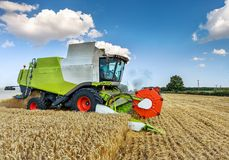 Dobrich, Bulgaria - JULY 13, 2017: Claas Lexion 660. Dobrich, Bulgaria - JULY 13, 2017: Claas Lexion 660 combine harvester on display at the annual Nairn stock photo