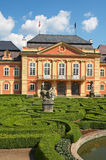 Dobris chateau. Rococo house with a distinct facade dates from the years 1745-1765, when the reconstruction realized JindÅ™ich Pavel Mansfeld. French Gardens stock images