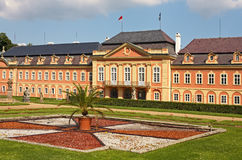 Dobris chateau. Rococo house with a distinct facade dates from the years 1745-1765, when the reconstruction realized Jindřich Pavel Mansfeld. French Gardens: A Stock Photos