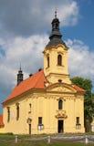 Dobris church. Church of the Holy Trinity in the Dobris city. Czech republic Stock Photo