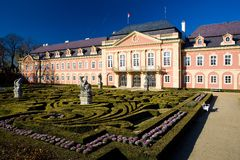 Dobris Palace. With gardens, Czech Republic Stock Photos