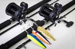 Dobro ajustado para a pesca de mar Salmon Fotografia de Stock Royalty Free