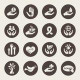 Dobroczynność ikony ilustracji