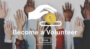 Dobroczynność wolontariusza pomocy pomoc Daruje pojęcie obraz royalty free