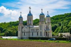 Dobrogea, Costanza, Romania, MAI 2017: San Andrew Monastery dentro fotografia stock