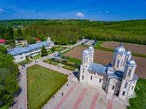 Dobrogea, Costanza, Romania, MAI 2017: San Andrew Monastery dentro immagine stock libera da diritti