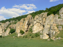 Dobrogea Gorges. Mountain landscape with unique bizarre limestone rock formation, some of the oldest in Europe, dating back to Mesozoic period, in Dobrogea Royalty Free Stock Photography