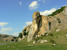 Dobrogea Gorges. Mountain landscape with unique bizarre limestone rock formation, some of the oldest in Europe, dating back to Mesozoic period, in Dobrogea Stock Photography