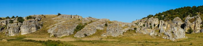 Dobrogea gorges panorama. Panorama landscape of Dobrogea gorges Stock Photo
