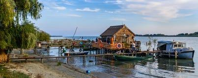 DOBROGEA, ROMÊNIA - 22 DE OUTUBRO DE 2015: O delta de Danúbio espalha tanto quanto o ² de 3446 kmÂ, sendo o segundo como a escala Fotos de Stock