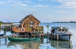 DOBROGEA, ROMANIA - OCTOBER 22, 2015: The Danube Delta spreads a Stock Image